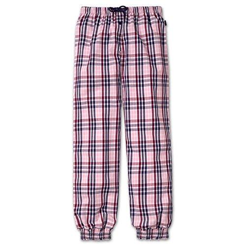 Schiesser Mix & Relax, Mädchen Schlafanzughose lang, Pyjamahose Web, rosa, 148799, Größe:128 (Herstellergröße 128)