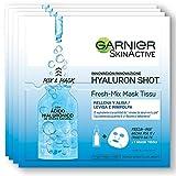 Garnier Hyaluron Shot, Mascarilla antiestrés relajante para la cara -...