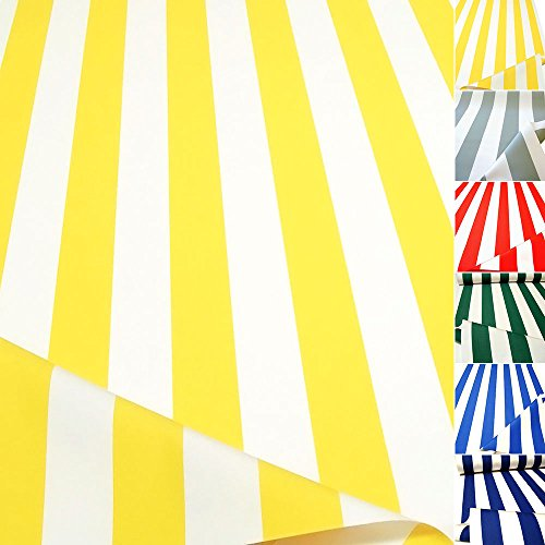 TOLKO Sonnenschutz CLASSIC Markisen-Stoff Meterware zum Nähen mit UV-Schutz 50+ | Wasserdicht, Extra Langlebig - ohne Ausbleichen, 120cm Breite (Gelb-Weiß)