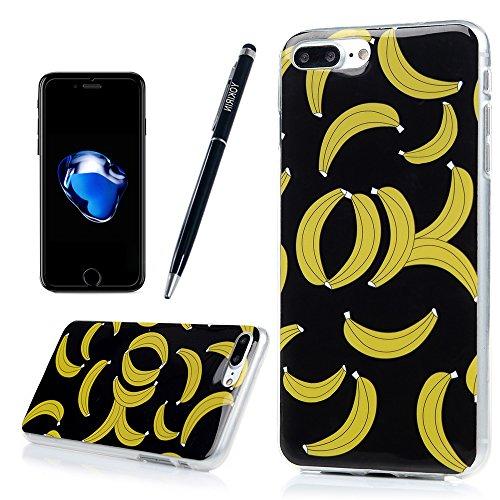 """iPhone 7 Plus Hülle Case YOKIRIN Premium TPU Silikon Case Cover Handytasche Handyhülle Etui Softcover Tasche Schutzhülle Schale für iPhone 7 Plus (5.5"""")Leopard Banane"""