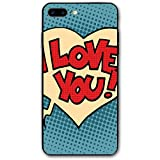 ZZHOO Compatible with iPhone 7/8 Plus Case, Pop Style Comic Strip Valentines Bubble...