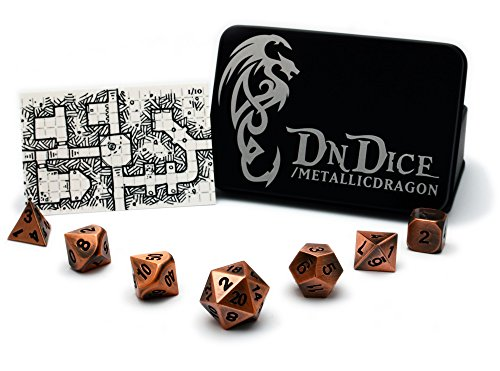 copper-metallic-dragon-solid-die-cast-zinc-poly-dice-set-electroplated-in-a-brushed-copper-finish-wi