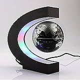 Yosoo C shape Decoration Magnetic Levitation Floating Globe World Map LED Light - Christmas Gift