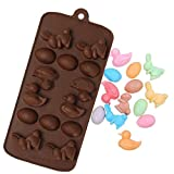 #5: JoyGlobal Easter Rabbit Bunny Duck Egg Silicone Chocolate Cake Cookie Chocolate Mould