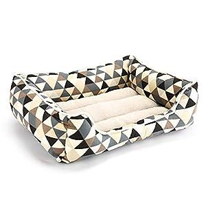 CHENYAJUAN Produits pour Animaux De Compagnie Chien Lits pour Grands Chiens Chats Chenil Chiot Banc Canapé Dog-Bed Couverture Mat Maison