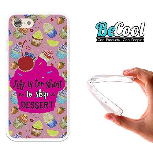 BeCool®- Coque Etui Housse en GEL Flex Silicone TPU Iphone 8, Carcasse TPU fabriquée avec la meilleure Silicone, protège et s'adapte a la perfection a ton Smartphone et avec notre design exclusif. Jou L1709