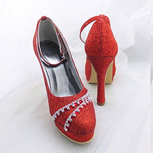 Kevin Fashion , Chaussure de mariée fashion femme Rouge - Rojo - rojo