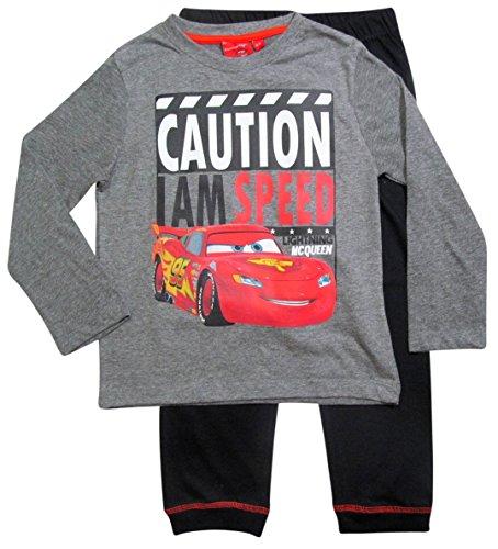 Cars Disney 3 Kollektion 2017 Schlafanzug 92 98 104 110 116 122 128 Jungen Pyjama Lang Lightning McQueen Grau (92-98; Prime, Grau)