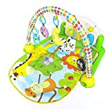 BPAEPFGG Spieldecke Krabbeldecke Spielbogen Erlebnisdecke Spielmatten Babydecke Laufstall Ab 0 Monaten Musik Spiel Decke Baby Fuß Klavier Übung Rahmen Baby Bett Spielzeug