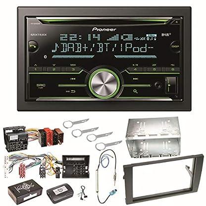 Pioneer-FH-X840DAB-Bluetooth-Autoradio-DAB-CD-Einbauset-fr-Audi-A4-B7-Seat-Exeo