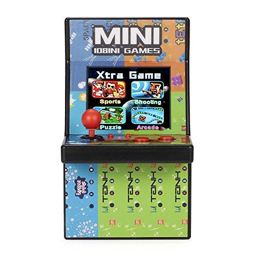 80er Retro Mini Arcade Spielautomat mit 2.8″ LCD Farb Display, eingebautem Lautsprecher und 108 Videospiele - 2