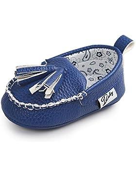 Itaar Babyschuhe Lauflernschuhe PU-Leder Boot Schuhe mit weicher rutschfester Sohle für Babys und Kinder 0-18...