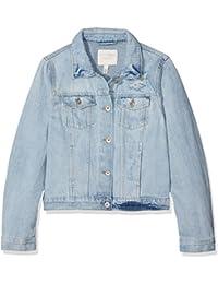 45ccaac3e107 Tom Tailor Denim Super Bleach, Giacca in Jeans Donna, Blu (Light Stone Wash