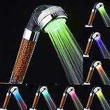 AnGeer, soffione per la doccia a LED, 7colori che cambiano a rotazione, AG-2