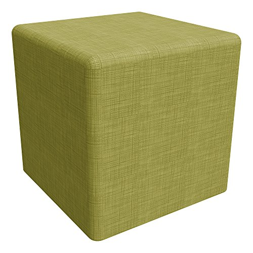 School Outfitters Shapes Series II  Vinyl Soft Seating Stool, Cube, 18