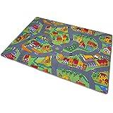 PROHEIM Spielteppich für Das Kinderzimmer Kinderteppich City oder Country Straßenteppich in 2 Größen, Größe:140 x 200 cm, Motiv:Country Life