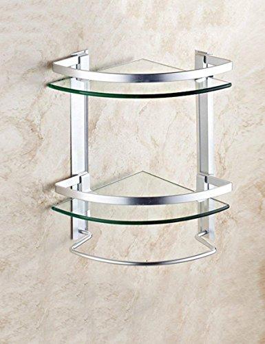 Home Badezimmer Rack gehärtetes Glas Doppel dreieckige Regal Bad Regale Waschbecken Kosmetik Rack Badewanne Winkel Racks Qualität ++++