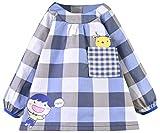 Happy Cherry Blusón Babero Babi Impermeable de Mangas Largas Protección de Ropa Infantil Delantal de Pintura Dibujo para Bebés Niños Niñas