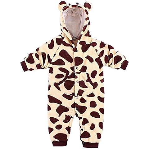Happy Cherry Nuevo Mono Disfraz de Animal Ropa de Una Pieza Pelele Body Pijama con Capucha para Bebé Niño Niña Baby Romper Diseño Conejito/Cebra/Jirafa/Elefantito a