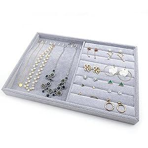 PuTwo Schmuckkasten Lint Schmuckaufbewahrung Schubladeneinsatz für Schmuck,Ohrringe,Armband,Ringe oder Uhr – 2 Fächer