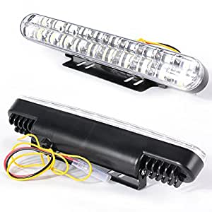 2x 12v 20 led auto luci diurne daylight running light led for Luci a led per auto