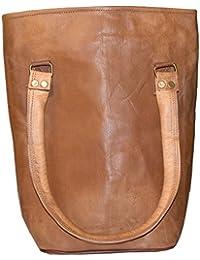 """Handcraft """"Deserto"""" Genuine Leather Brown Hand Bag Tote Bag Shoulder Bag For Ladies"""