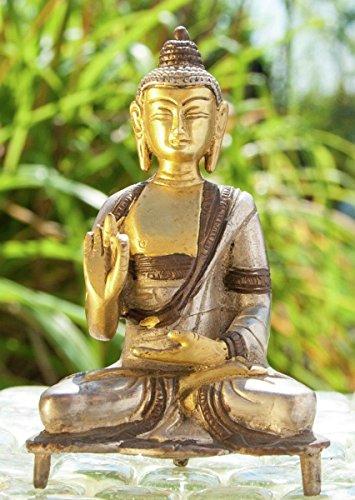 Statuen - Kanakamuni Buddha sitzend ca. 13 cm Messing Esoterik günstig kaufen