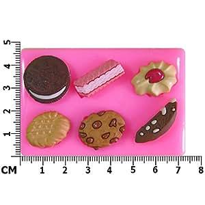Cookies gaufré Chocolat Jammie Dodger Oreo Moule en Silicone pour décoration de gâteau/Cupcake Toppers Décoration de gâteaux glaçage pâte à sucre Par les fées Blessings outil
