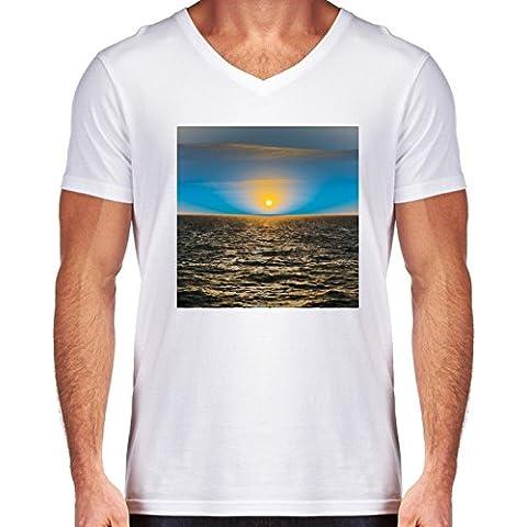 Camiseta V Cuello para Hombre - Un Mundo Extraño by LesImagesdeJon