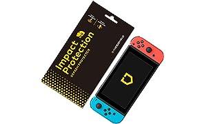 RhinoShield Protection écran pour Nintendo Switch [Anti-Chocs] Film Protecteur Haute qualité - Technologie Dispersion des Chocs - Transparence 99% et résistance aux Rayures/Traces de Doigts