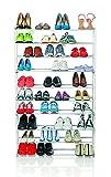 EASYmaxx Gravurgerät 09642Schuhregal Schuh Edelstahl/Kunststoff weiß 89,5x 26x 142cm Größe XXL