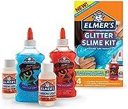 Elmer's Slime Starter Kit, Clear School Glue, Glitter Glue Pens & Magical Liquid Activator Solution 2-Coun