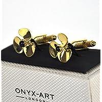 Cufflinks - Gold Propellers