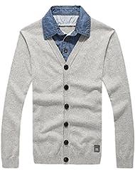 Capas de camiseta collar dos suéteres suéter de los hombres ropa de hombres suéter,XXL