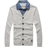 RIVI Capas de Camiseta Collar Dos suéteres suéter de los Hombres Ropa de Hombres suéter,XXL