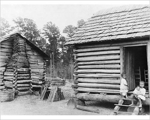 photographic-print-of-log-cabins-in-thomasville-florida-c1900-b-w-photo