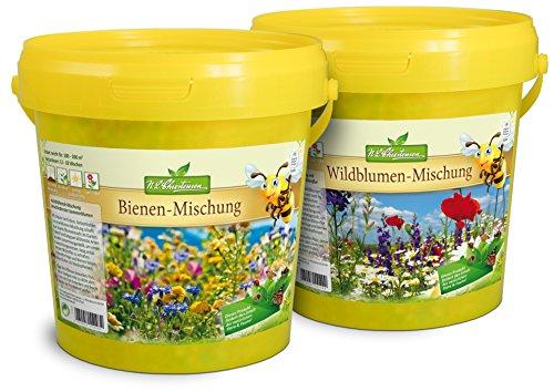 N.L.Chrestensen SET 2 Eimer - Ein Paradies für alle Insekten Blumensaatgut Mehrfarbig