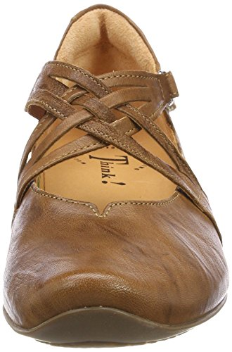 Think! Damen Chilli_282108 Riemchenballerinas Braun (Lion/Kombi 55)