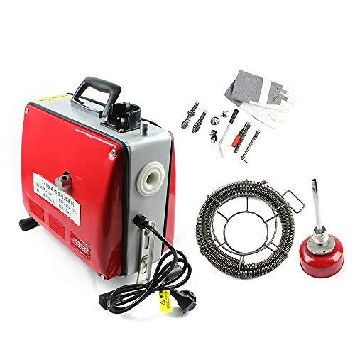 Rohrreinigungsmaschine,250W Rohrreinigungsgerät 400 u/M,für Rohre mit PHI Ø 20 bis 100 mm (Rohrreinigungsgerät)