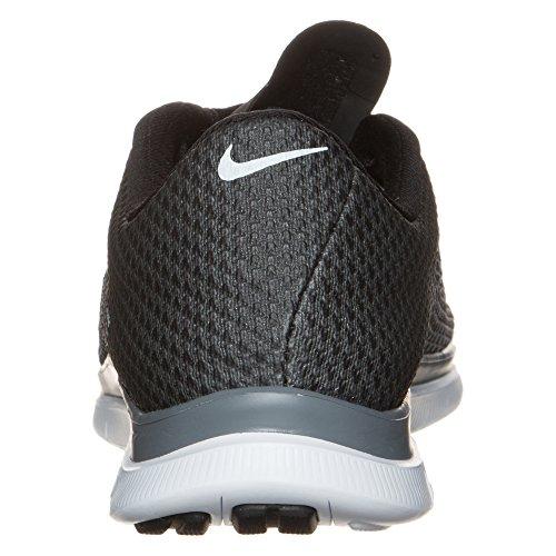 Nike Free Hypervenom Low Botas de fútbol, Hombre Grau / Schwarz / Weiß (Schwarz / Schwarz-Cool Grey-White)