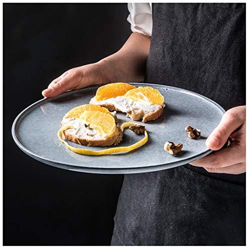 YYF Assiette en céramique créative nordique - Assiette à steak assiette à pâtes vintage personnalité bleue 6-10,25 pouces (Taille : 20cm)