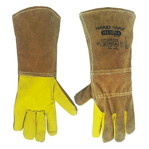 animal-handling-gloves-35cm-gauntlet-leather-kevlar-dog-cat-bird-reptile-by-handmax