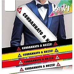 Idea Regalo - FASCIA PREMIAZIONE MISTER CONDANNATO A NOZZE ST4236 ADDIO CELIBATO VARI COLORI