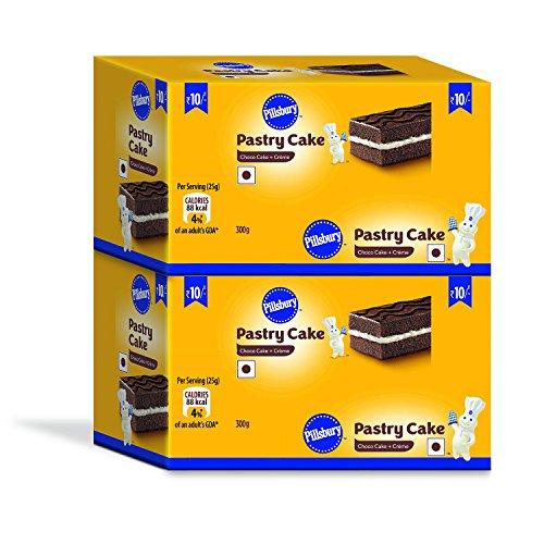 Pillsbury Pastry Cake, Chocolate, 2 x 12 Pack, 600g