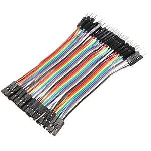 FamilyMall(TM)40x 10 male-female Steckbrücken Stecker-/Buchse Drahtbrücken jumper wires