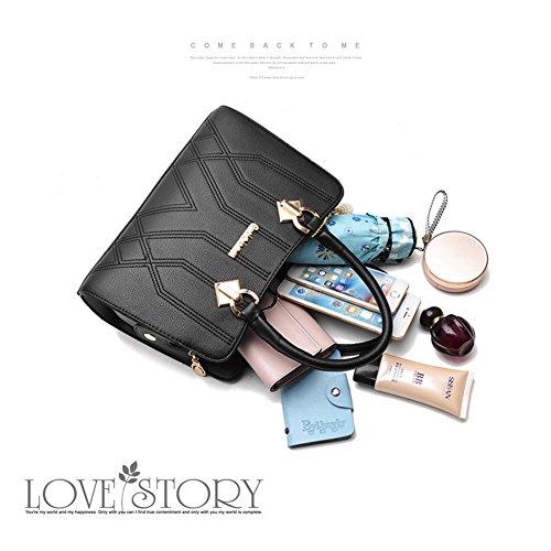 Yoome Medium Crossbody Handtaschen für Frauen Hardware Anhänger Top Handle Handtaschen Elegant Taschen - D.Pink Burgund