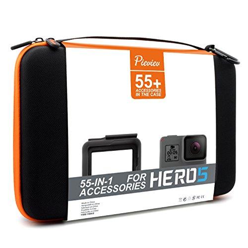 Pieviev Zubehör Case Kit für gopro HERO5 Black (55+ Artikel, inklusive HERO5 Black Frame)