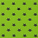 Limettengrüner kleines schwarzes Katzengesicht Oxford