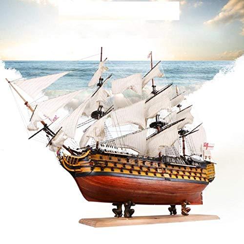 MADOUR Maquetas de Barcos Kits de Modelo de Barco DIY Handmade Assembly Ship 21 Kit de Modelo de Barco de Vela de Madera Ship Handmade Assembly Decoration Gift para niños Boy