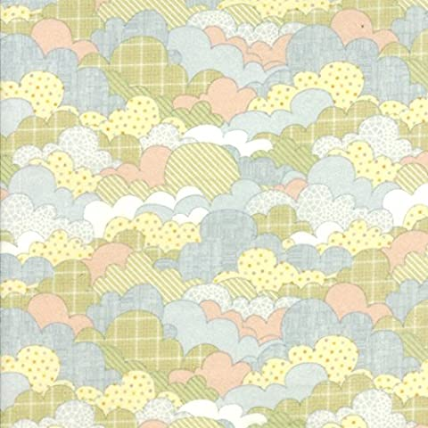 Tim and Beck Wee Ones Flannels 50cm Flannel Quilting Fabric Moda Fabrics - 39542 11F - matches Garden Project, Bartholo-meow's Reef and Apple Jack by Moda